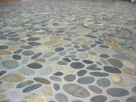 river floor river rock tile flooring homes and garden journal