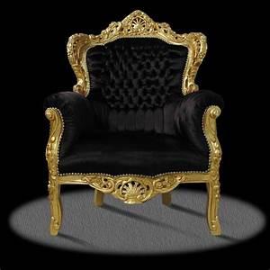Barock deluxe mobel barock sessel schwarz gold for Barock sessel schwarz