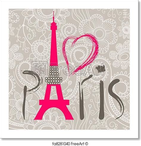 art print  paris lettering  lace seamless