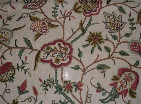 Crewel Upholstery Fabric by Crewel Curtains Upholstery Fabric By Kashmir Modernart