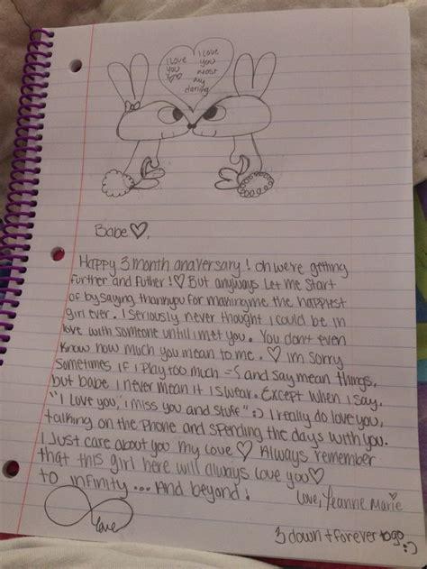 cute letter  boyfriend ideas  pinterest