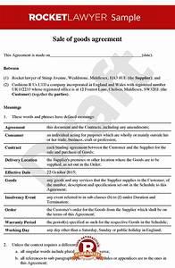 sale of goods agreement b2b sale of goods contract With sale of goods agreement template
