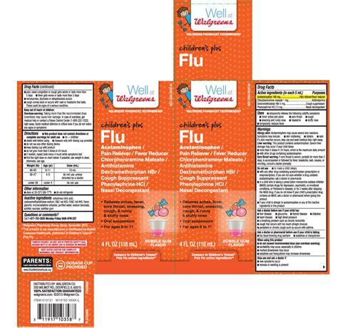 Childrens Plus Flu Suspension Walgreens