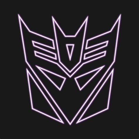decepticon logo glow transformers t shirt teepublic