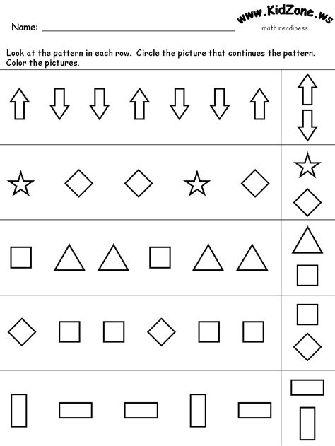 kidzone math worksheets worksheets for all and