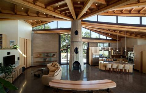 coastal rammed earth eclectic family room san luis