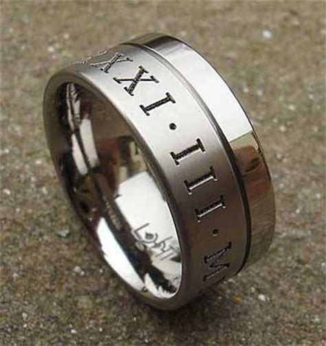 twin finish personalised titanium wedding ring lovehave uk