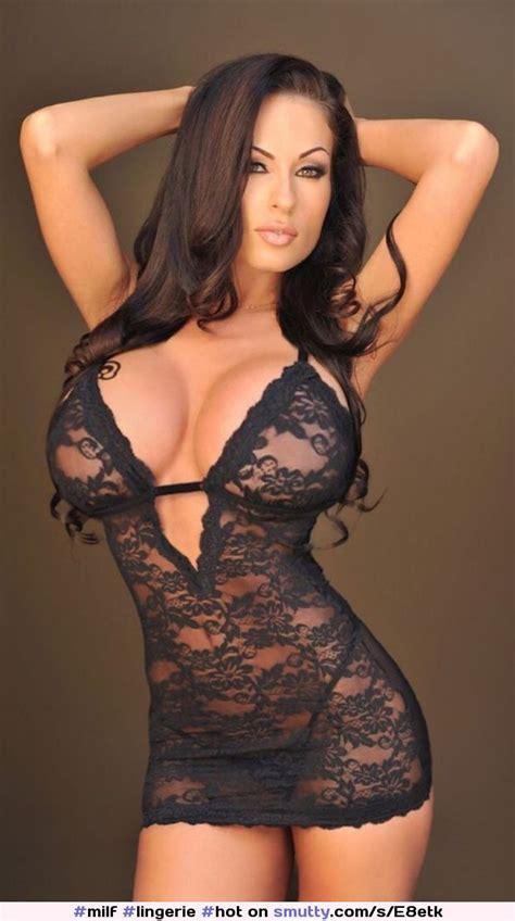Milf Lingerie Hot Babes Catsuit Brunette Big Tits