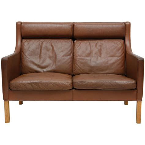 Leather Settee Sale by Borge Mogensen Leather Settee At 1stdibs