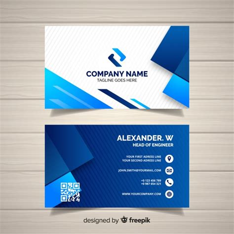business card template  geometric shapes vector