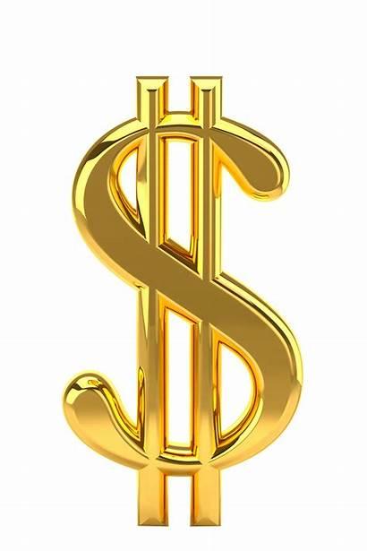 Dollar Money Coin Transparent Golden United States