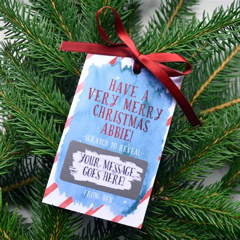 merry christmas scratch card personalised merry christmas scratch card tag by philly brit notonthehighstreet com