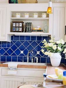 best 25 blue backsplash ideas on pinterest blue kitchen With kitchen colors with white cabinets with mosaic eight plates wall art