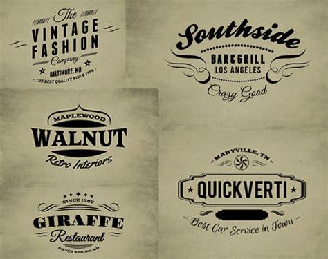 vintage logo templates web design ledger