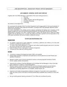 Front Desk Resume Description by Office Assistant Description Sle Recentresumes