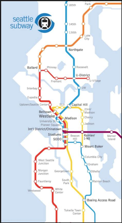 light rail seattle map seattle ballot success for lrt expansion