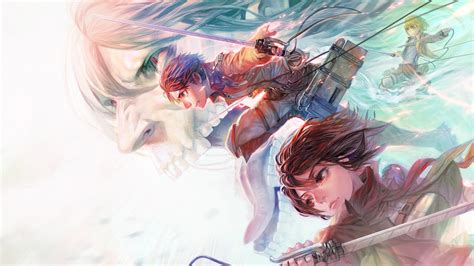 top attack  titan mikasa  eren wallpaper wallpaper