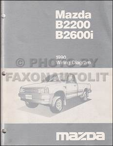 1990 Mazda B2200 B2600i Pickup Truck Repair Shop Manual Original
