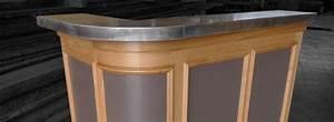Petit Meuble Bar : meuble bar avec comptoir en zinc r alisation ~ Teatrodelosmanantiales.com Idées de Décoration