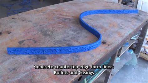 concrete edge forms bullet edge concrete countertop form liner youtube