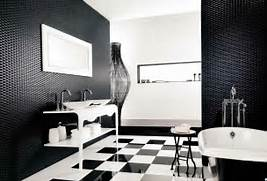 Bathrooms With Black And White Tile by Black And White Bathroom Floor Tiles Decor IdeasDecor Ideas
