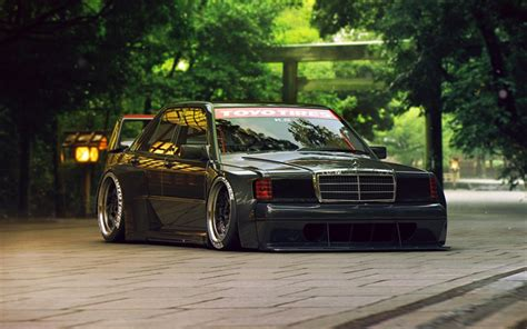 mercedes 190 tuning wallpapers mercedes 190 w201 tuning stance supercars german cars mercedes