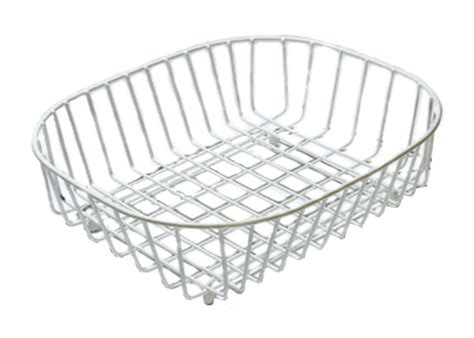 Kitchen Drainer Basket by Delfinware Wireware White Dish Sink Kitchen Drainer