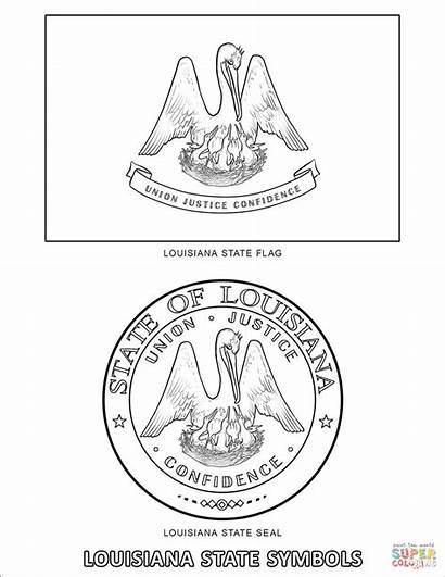 Symbols State Louisiana Coloring Pages Worksheets Printable