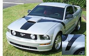 Graphic Express - 2005-09 Mustang GT Hood Flare with Square Nose Decal Kit