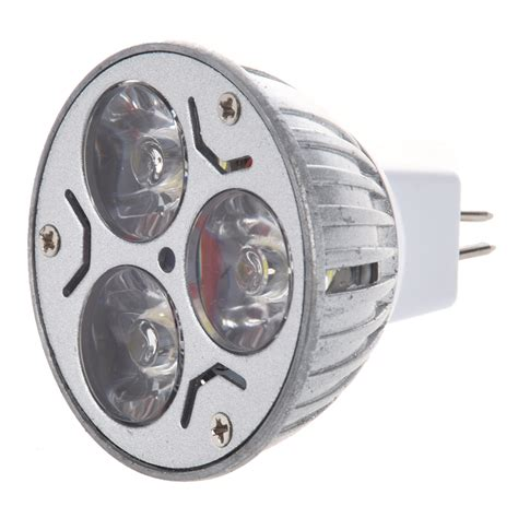 mr16 3x1 watt led spot light bulb 20w white f track light