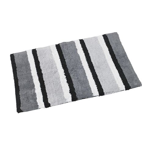 grey and white bath rug best decor things
