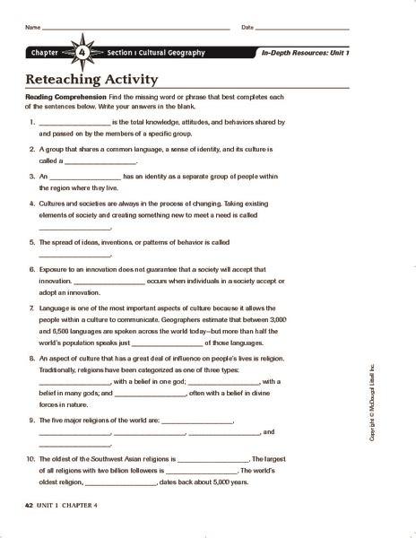 All Worksheets » Culture Worksheets  Printable Worksheets Guide For Children And Parents