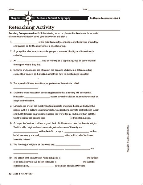 southwest region  worksheets reviewed  teachers