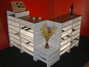 Lounge Aus Europaletten : paletten palettenthekenanlage m bel aus paletten theke aus paletten gebaut diy beleuchtete ~ Markanthonyermac.com Haus und Dekorationen