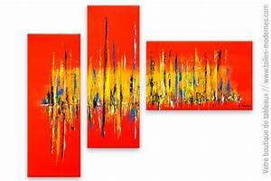 Tableau Triptyque Moderne : tableau triptyque color d cor clatant ~ Teatrodelosmanantiales.com Idées de Décoration