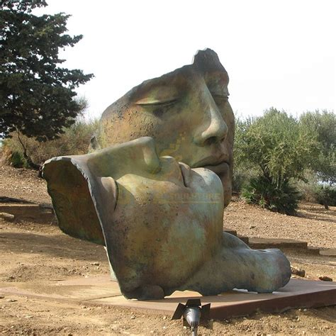 Artwork Outdoor Decoration bronze Abstract Face Sculpture