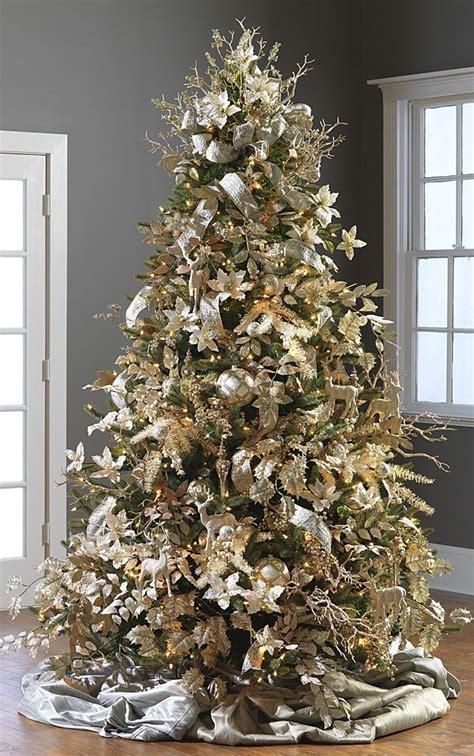 gorgeously decorated christmas trees  raz imports