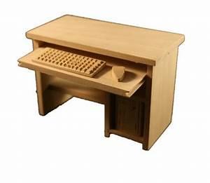 Pc Tisch Holz : pc tisch computertisch holz natur 1 12 sk spielwaren ~ Markanthonyermac.com Haus und Dekorationen