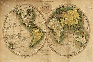 LARGE historic 1780 OLD ANTIQUE STYLE WORLD MAP Guthrie's ...