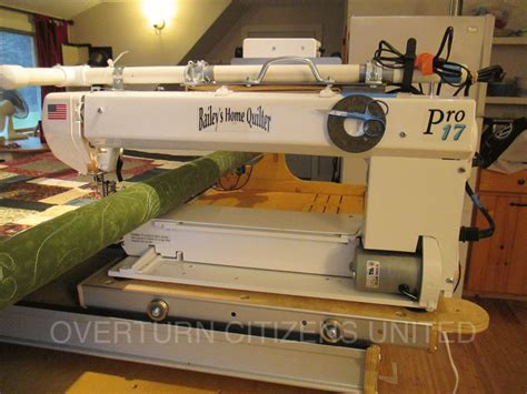sewing machine obsession quilting  motion   bailey