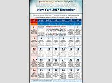 New York Telugu Calendars 2017 December