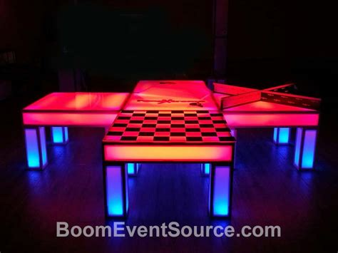 ping pong table rental led light up ping pong table