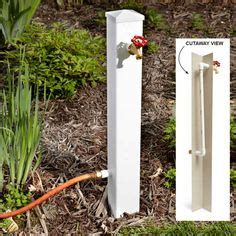 decorative hose bib extender 1000 ideas about fence posts on fencing