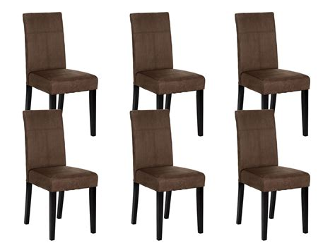 lot 6 chaises lot de 6 chaises marron