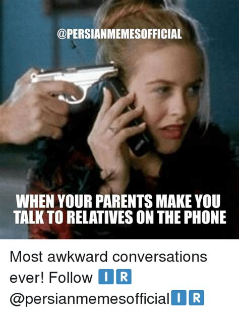 Talking In Memes - when your parents make you talk to relatives onthe phone