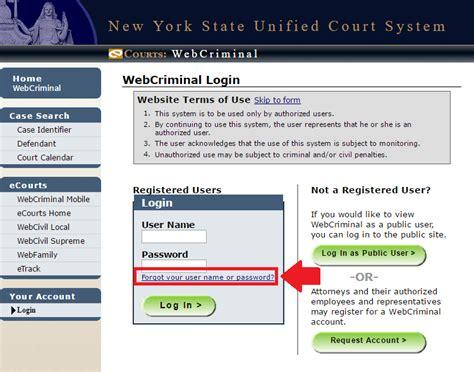 Webcrims Login Portal Account Request, Login & Help