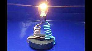 Free Energy Generator For Light Bulb Using Copper Wire And