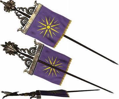 Standard Macedon Rome Flag Blade Mount War