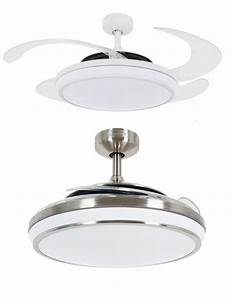 Fanaway evo led remote folding blade ceiling light fan