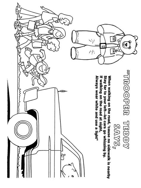 road street safety coloring pages  printable road street safety coloring pages